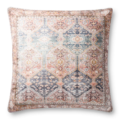 Loloi P0884 Blue/Multi Floor Pillow