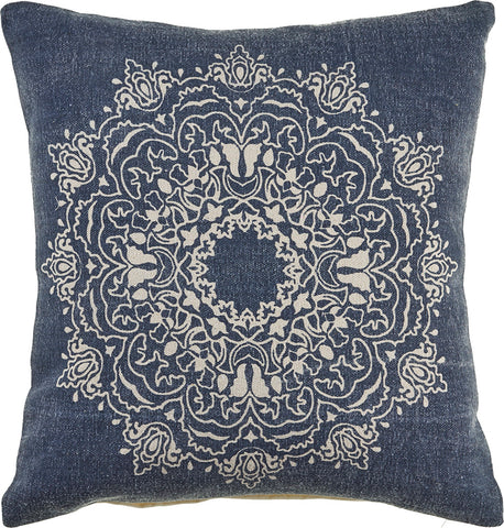Ornate Tri-Medallion  LR04692 Throw Pillow