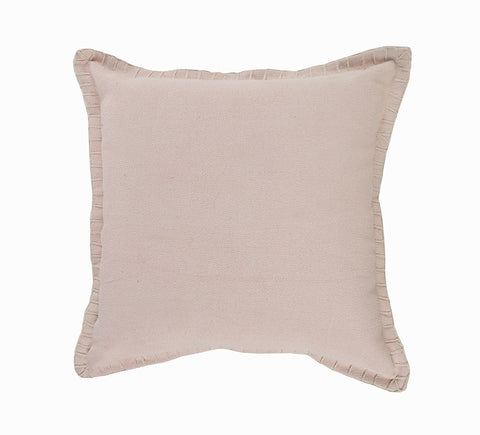 Embroidered Blush Pearl  LR04704 Throw Pillow