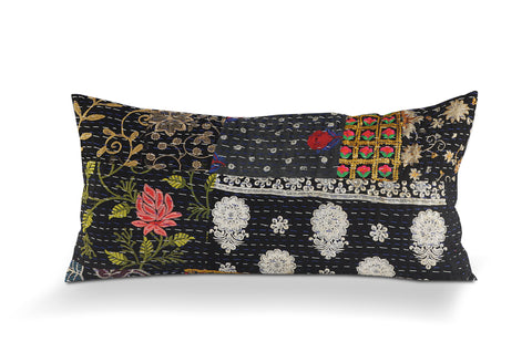 Deep Night Kantha LR07420 Lumbar Throw Pillow