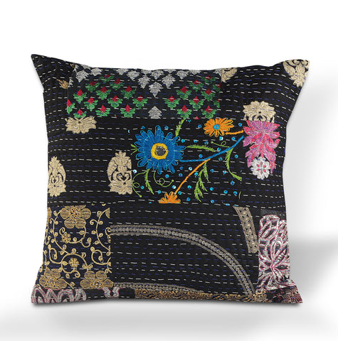 Deep Night Kantha LR07420 Throw Pillow