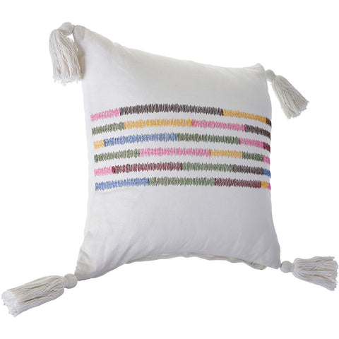 Embroidered Multicolored LR07439 Throw Pillow