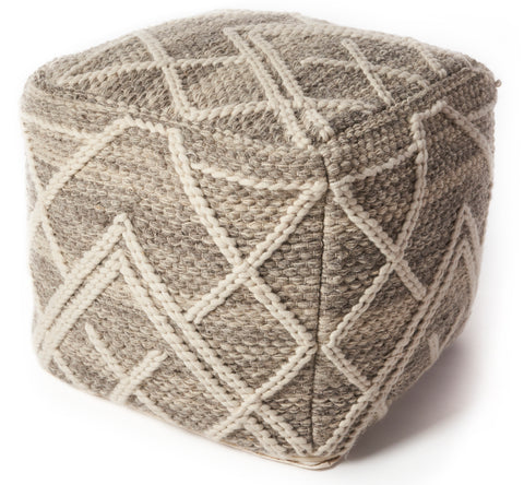 Crossways F861 Grey Pouf