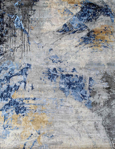 Canvas RN-1 Silver Blue/Gold Made To Order Rug