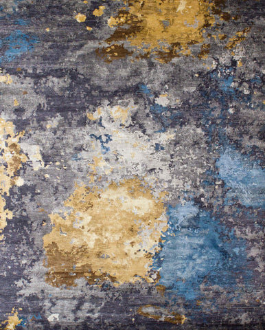 Canvas RN-10 Charcoal Gold Blue Made To Order Rug