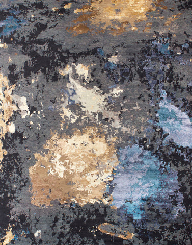 Canvas II CRN-10 WH Charcoal/Gold Bllue Made To Order Rug