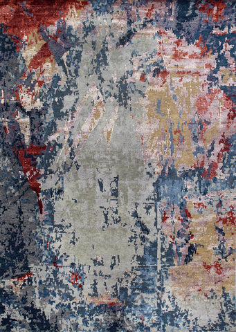 Canvas RN-22 Silver/Red Made To Order Rug