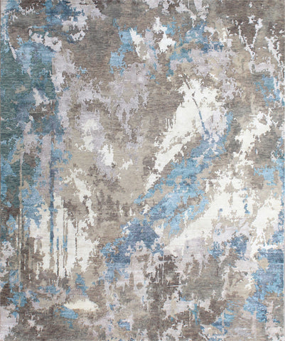Canvas II RN-24 Silver Blue Made To Order Rug