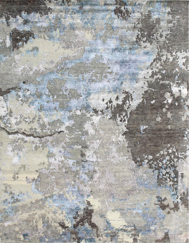 Canvas II RN-25 Gray/Turquoise Made To Order Rug