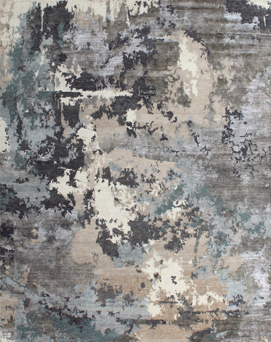 Canvas II RN-27 Silver/Blue Made To Order Rug