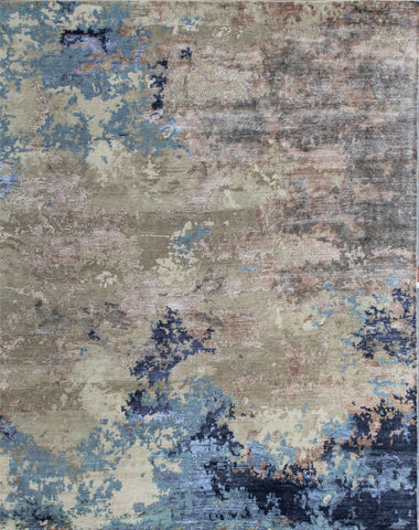 Canvas II RN-9 Beige/Turquoise Made To Order Rug