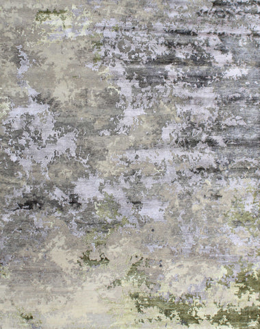 Canvas II Rn-9 Silver/Green Made To Order Rug