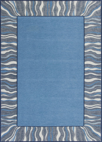 Retreat 128 Waves Denim Blue Rug