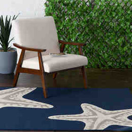 Tributary 6015.42 Sea Star Duo Navy/Ivory Rug