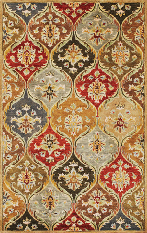 Syriana 6019 Panel Jeweltone Rug