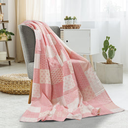 Cotton Candy Kantha  LR80153 Throw Blanket
