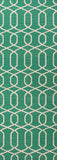 Urban Bungalow Ub29 Sabrine Emerald Green Antique White Rug