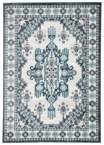 Valen VAL01 Haverhill Snow White/Legion Blue Rug