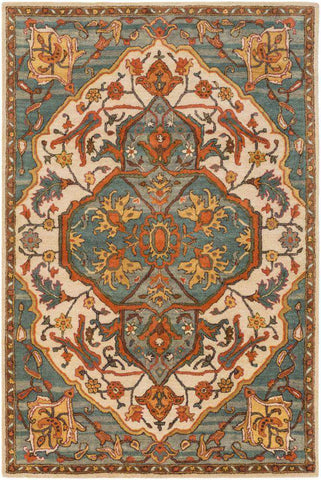 Ancient Treasures A 179 Green Gray Rug