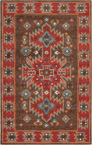 Arizona ARZ 1004 Brown Red Rug