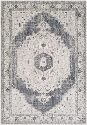 Aura Silk ASK 2327 Gray, Black Rug