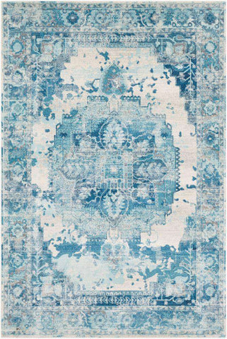 Aura Silk ASK 2328 Blue, Blue Rug