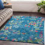 Aura Silk ASK 2334 Blue, Green Rug