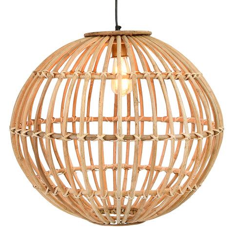 Abode Df2540 Small Round Handwoven Rattan Pendant Lighting