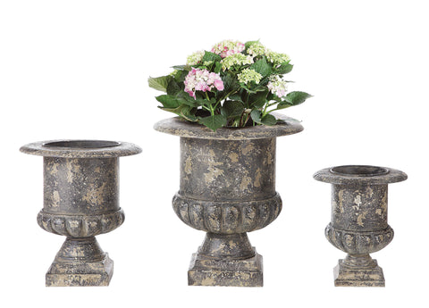 Collected Notions De7779 Distressed Black Metal Planters-Set Of 3