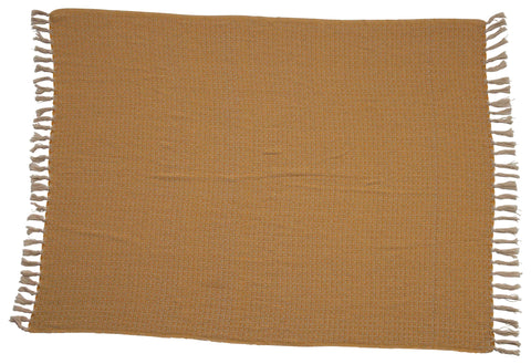 Rustic Country Df2393 Mustard Throw Blanket