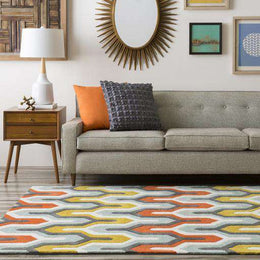 Cosmopolitan COS 9176 Green Orange Rug