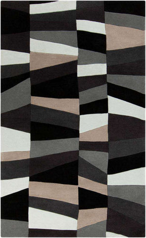 Cosmopolitan COS 9188 Gray Black Rug