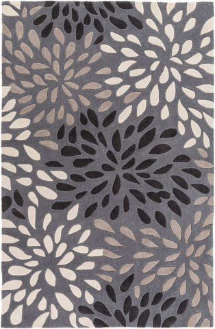 Cosmopolitan COS 9263 Gray Black Rug