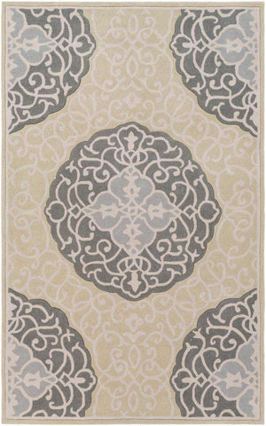 Cosmopolitan COS 9302 Green, Gray Rug
