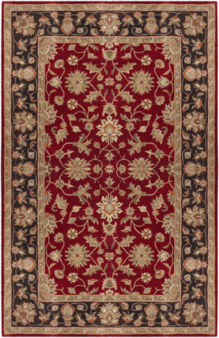 Crowne CRN 6013 Red Black Rug