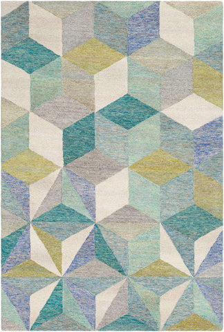 Cassini CSI 1002 Blue, Neutral Rug