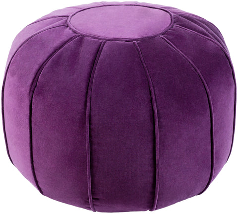 Cotton Velvet  CVPF-007 Dark Purple/Dark Purple Pouf