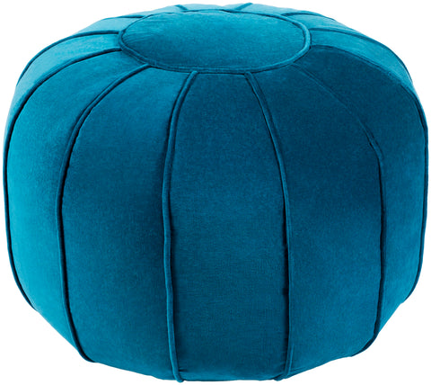 Cotton Velvet  CVPF-008 Teal/Teal Pouf