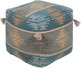 Adia  DIA-003 Medium Gray/Sage Pouf