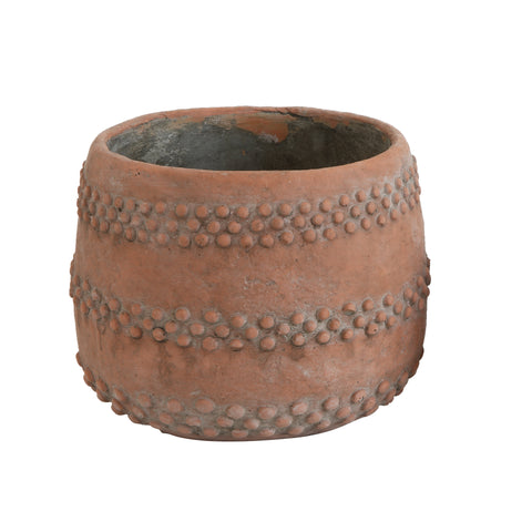 Terrain Da8379 Brown/Orange Cement Planter