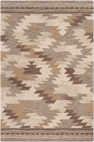 Dena DNA-1009 Taupe Rug Rectangle 2 x 3