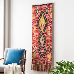 Dirham Drh-1000 Red/Pink Wall Hanging