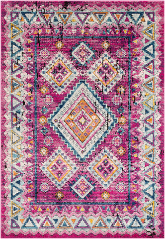 Dersim DSM-2302 Bright Pink Rug Rectangle 2 x 3
