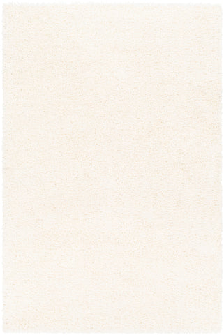 Deluxe Shag DXS-2300 White Rug Rectangle 2 x 3