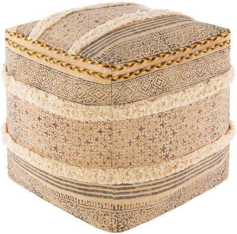 Dayna  DYPF-001 Wheat/Bright Yellow Pouf