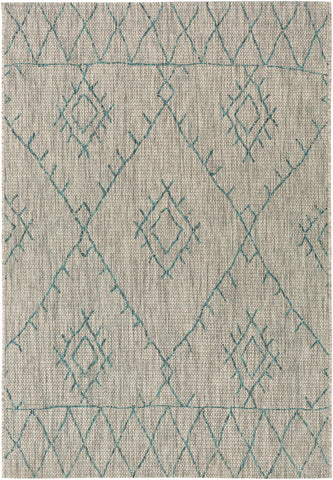 Eagean EAG-2327 Aqua Rug Rectangle 2 x 2.92