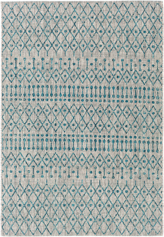 Eagean EAG-2333 Aqua Rug Rectangle 2 x 2.92