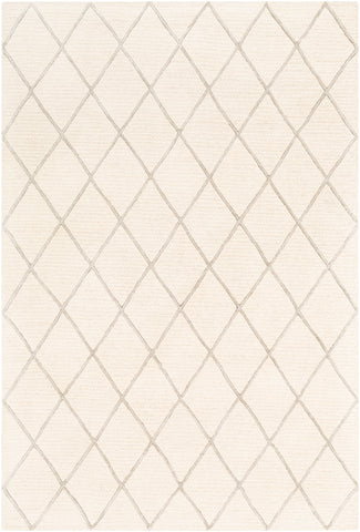 Eaton EAT-2303 Cream Rug Rectangle 2 x 3