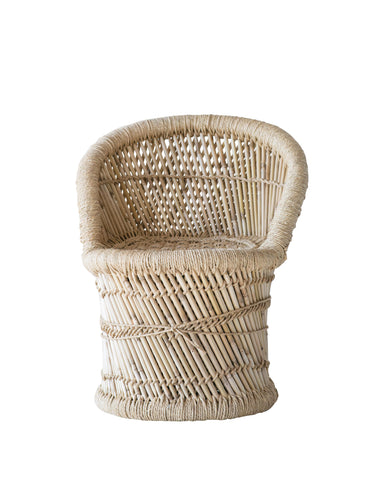 Little One Da9820 Woven Bamboo & Rope Tropical Children Accent Chair