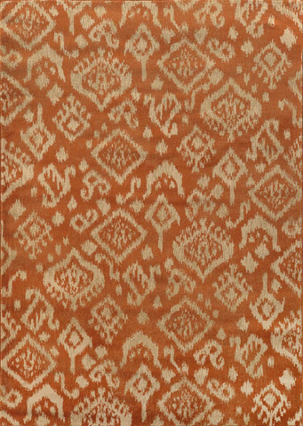Ella 5113C Orange / Beige Rug